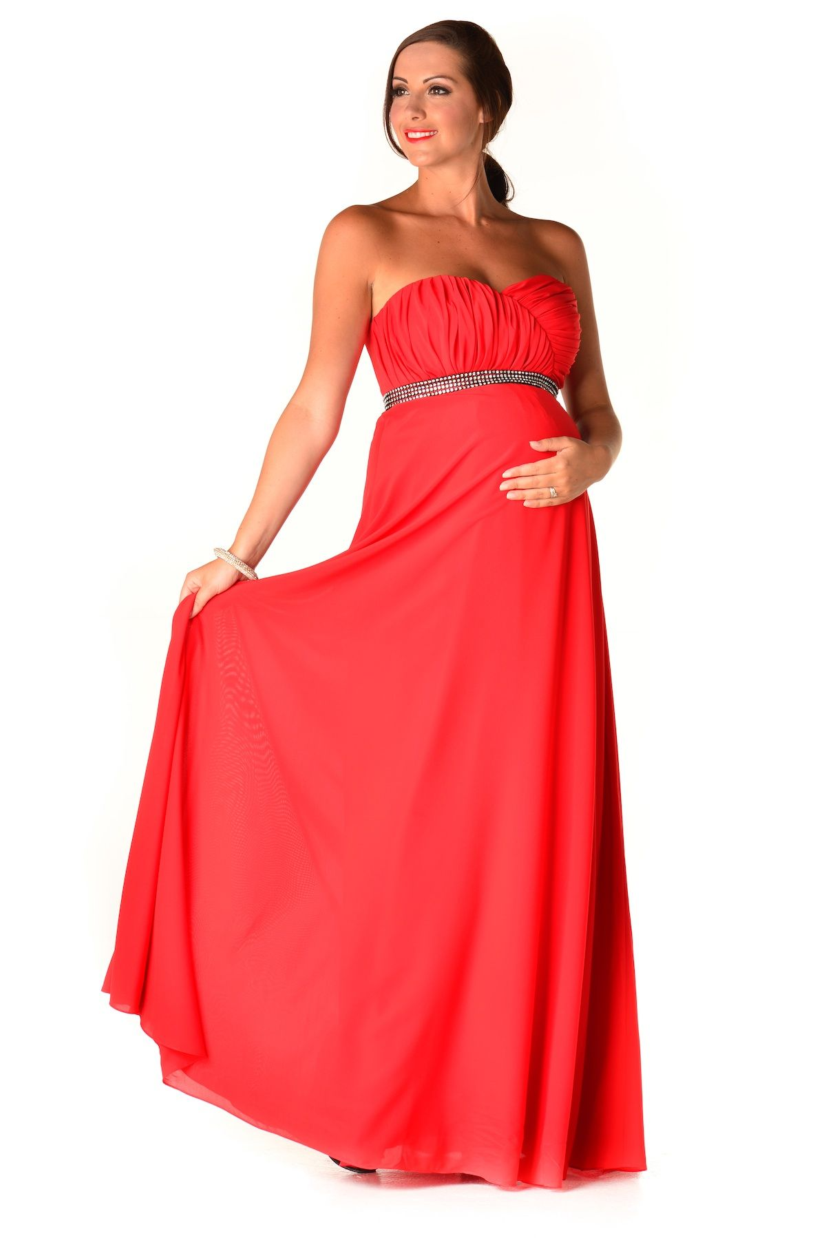 Tallula red maternity evening dress just stunning latest maternity bridesmaid dresses as the great dress ombrellifo Image collections