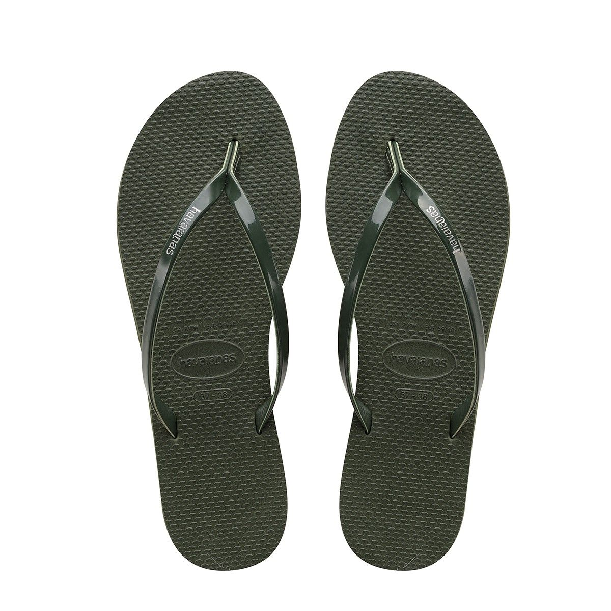 Havaianas Top Sandal Slippers Beach Shoes Toe Post Unisex Brown New All Sizes