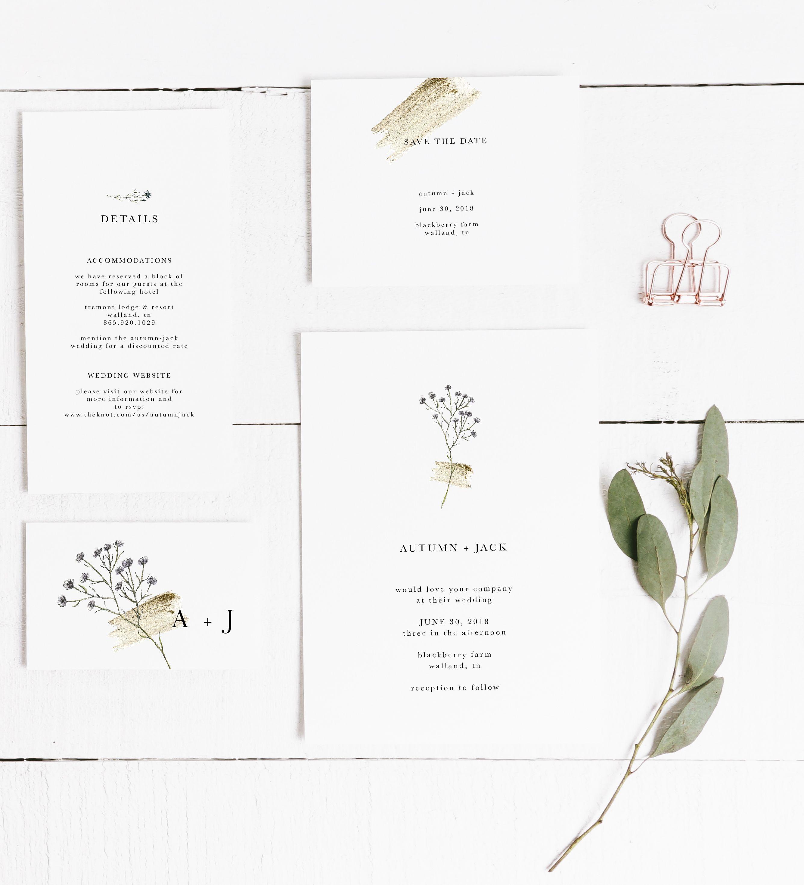 Simple Wedding Invitation Modern Wedding Invitation Wedding Invitation In 2020 Floral Wedding Invitations Eucalyptus Wedding Invitation Silver Wedding Invitations