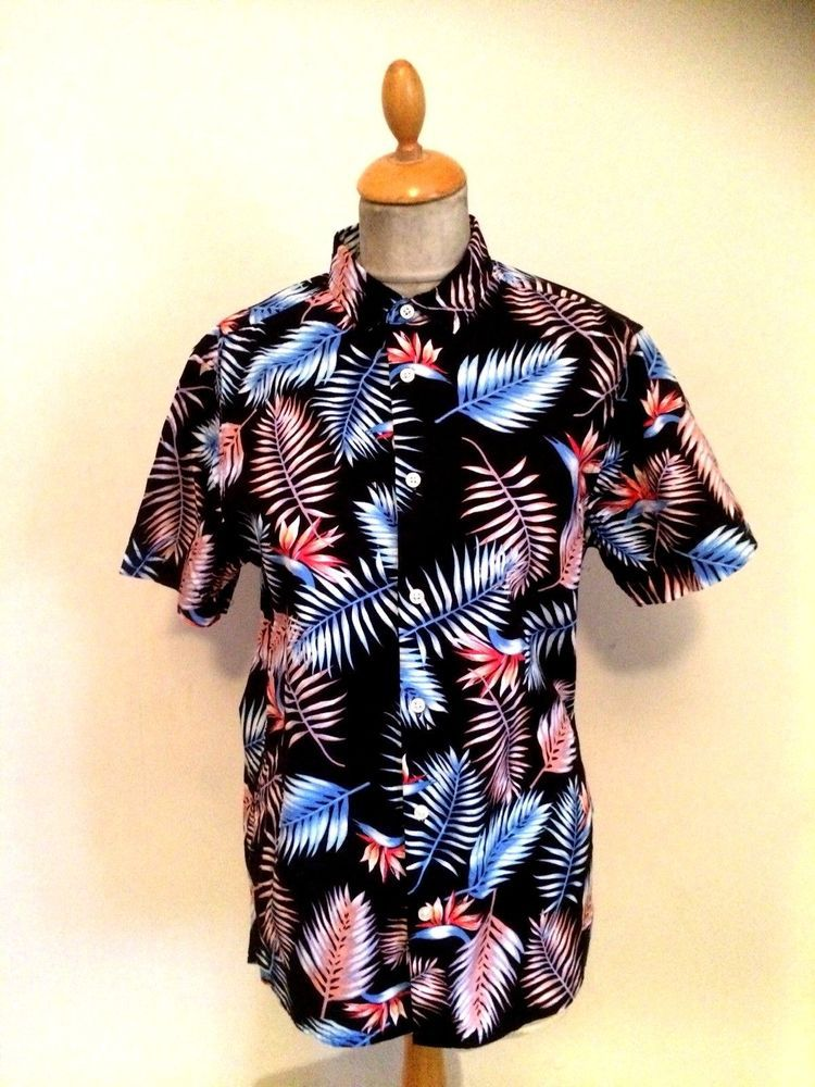 b9274772 1950s Style Rockabilly Hawaiian Shirt Size S #CedarWoodState #Hawaiian