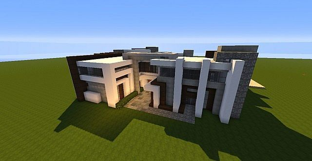 Minecraft modern house design tutorial