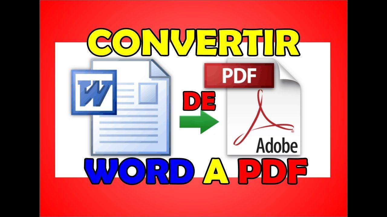 Como Convertir Word A Pdf Sin Programas Informatica Y Computacion Programador Informatico Computacion