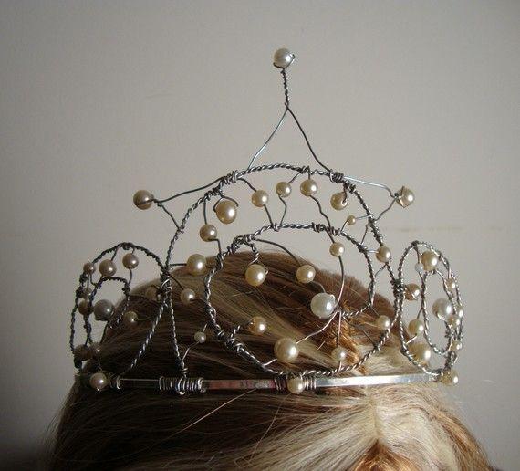 Handmade Mermaid Faery Crown made with Vintage Costume by cornehl, $45.00