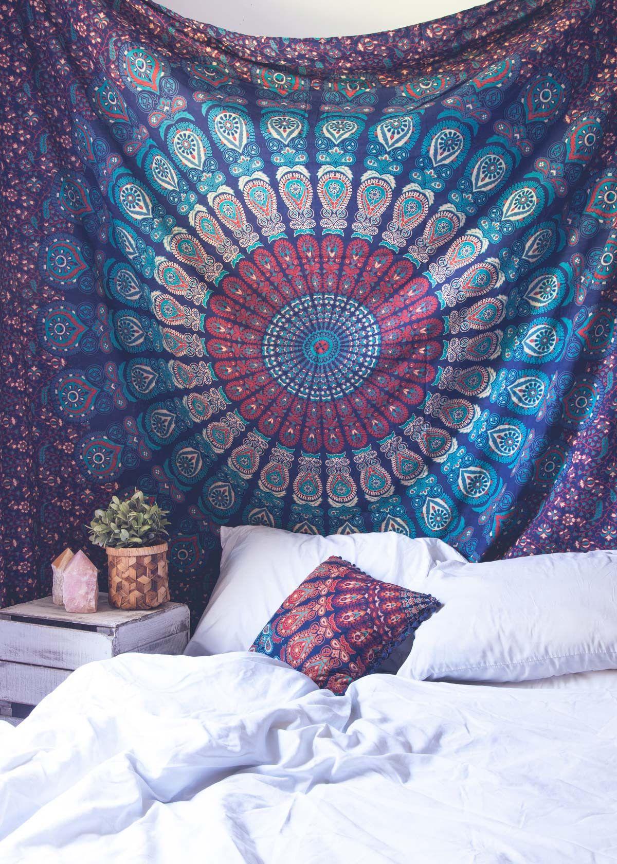 Mahali Medallion Tapestry By SoulMakes Boho Tapestry, Bedroom With Tapestry,  Tapestry Bedding, Rooms