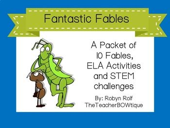 picture about Printable Fables identify Wonderful Fables: A Packet of 10 Fables, ELA Functions and