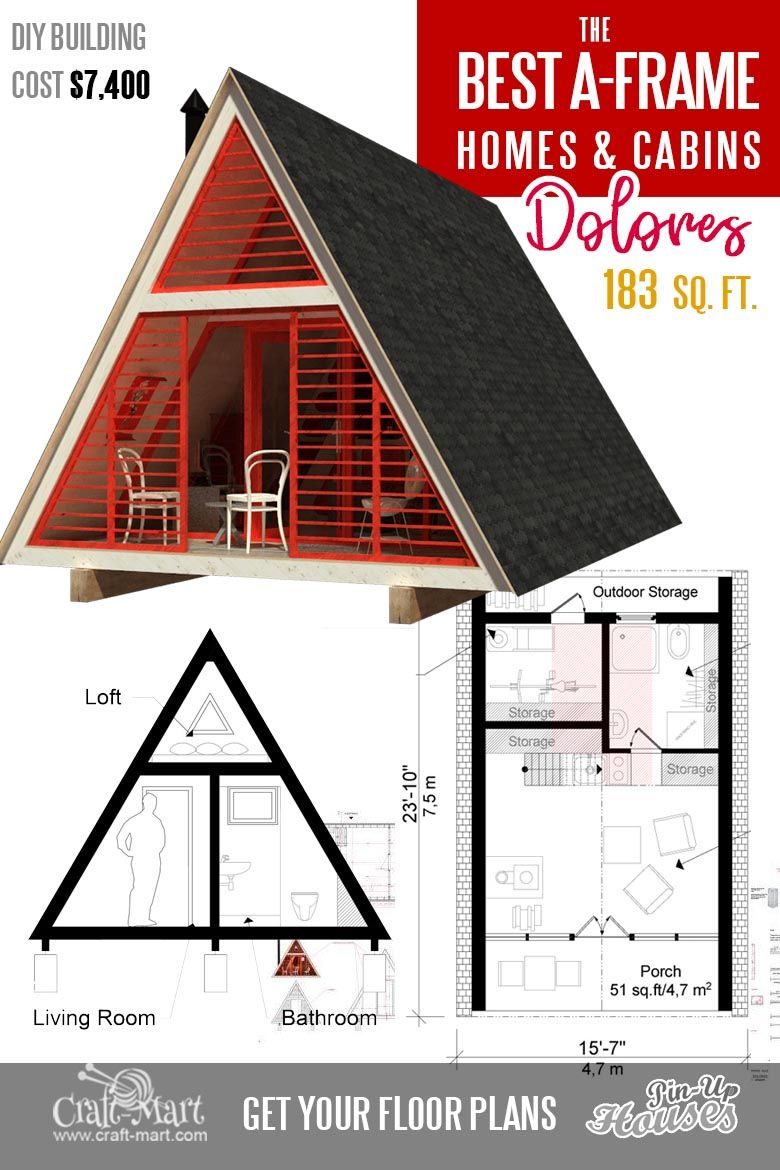 Cool A Frame Tiny House Plans Plus Tiny Cabins And Sheds Craft Mart In 2020 A Frame House A Frame Cabin Plans A Frame House Plans