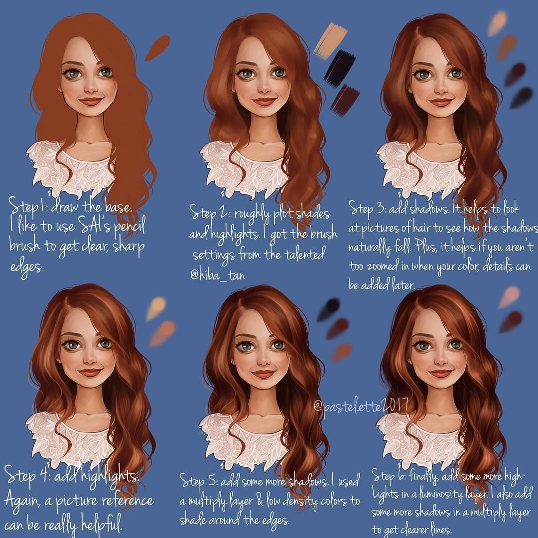 10 Amazing Drawing Hairstyles For Characters Ideas In 2020 How To Draw Hair Digital Painting Tutorials Digital Art Tutorial