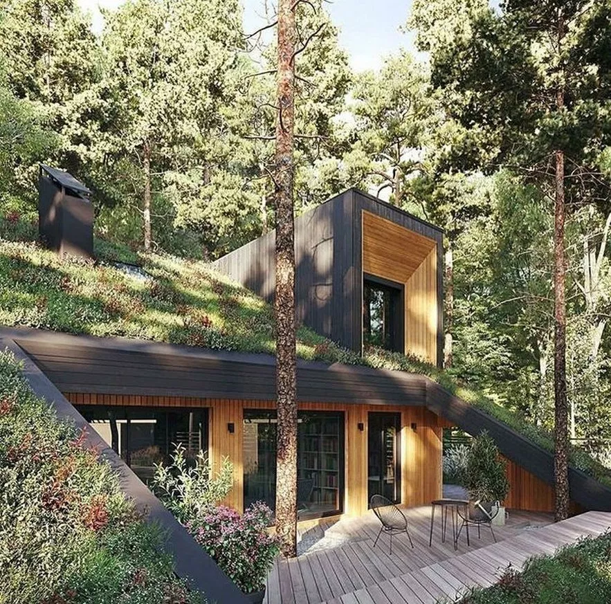 68 Sustainable Home Design That Make You Amazed 14 Fieltro Net Green Roof Design Earth Sheltered Homes Architecture