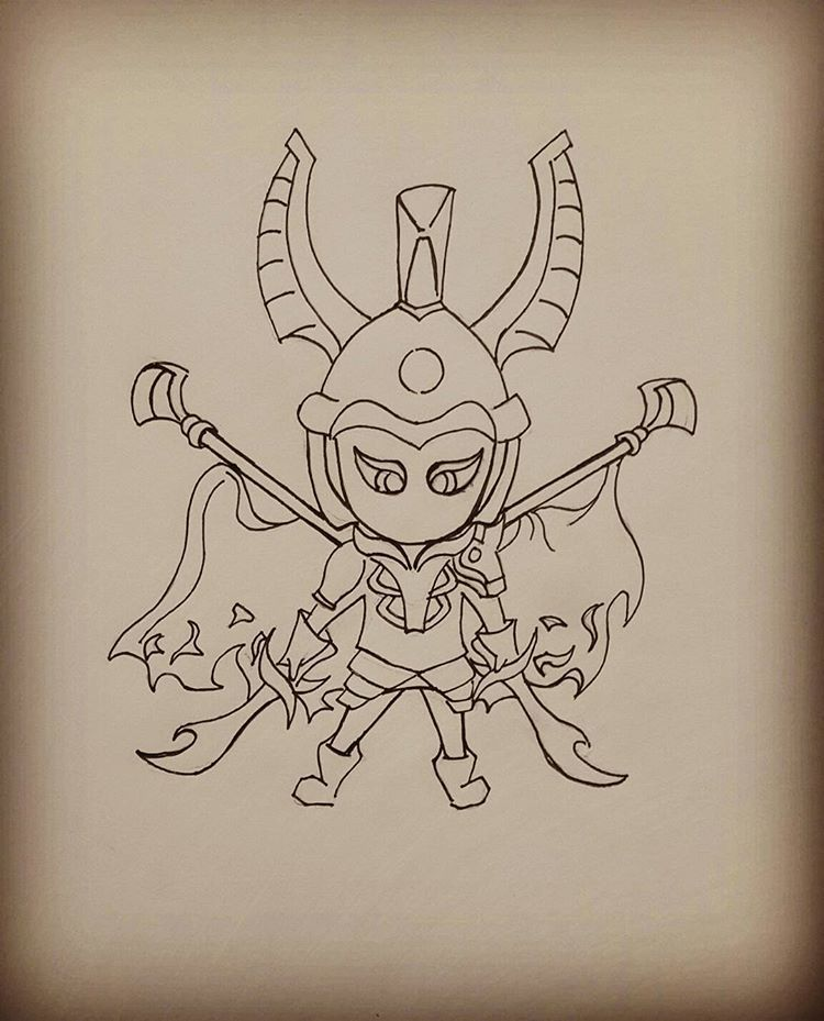 On The Proses Legion Commander If They Want War Then We Shall Give It To Them Dota2drawing Dota2lover Dota2 Dotart Arts Art Proses Chibi