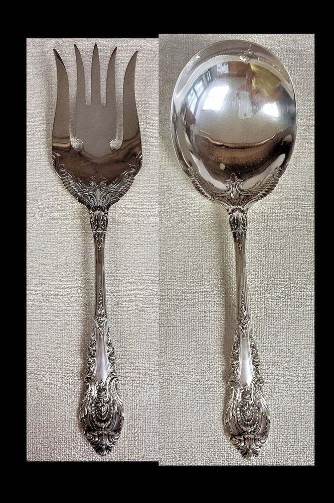 "1 WALLACE SIR CHRISTOPHER NO MONOGRAM STERLING SILVER 6/"" SOUP SPOON"