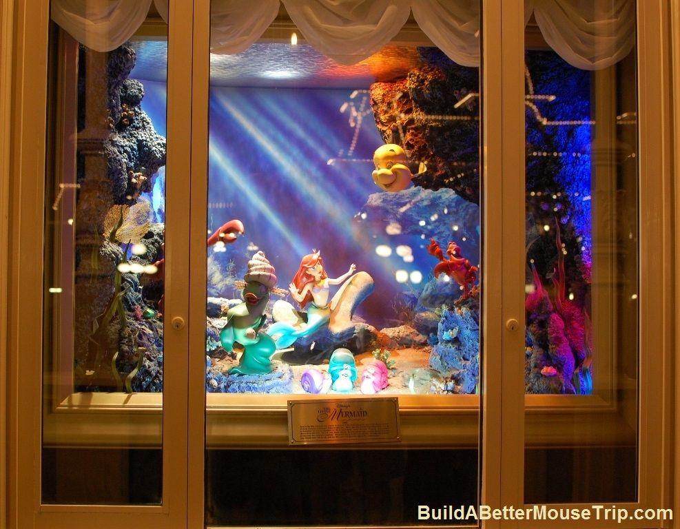 The Little Mermaid window at the Emporium on Main Street