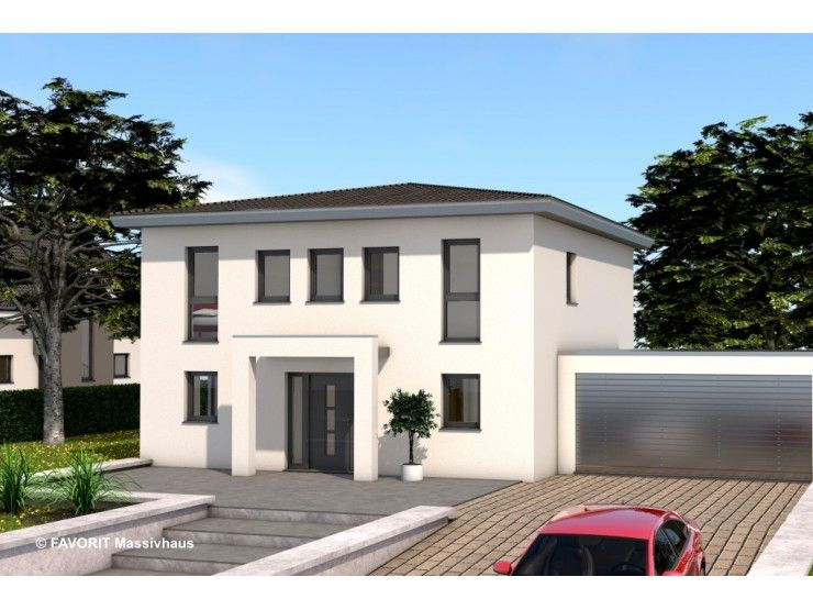 Citylife 143 einfamilienhaus von bau braune inh sven for Flachdachhaus mit garage