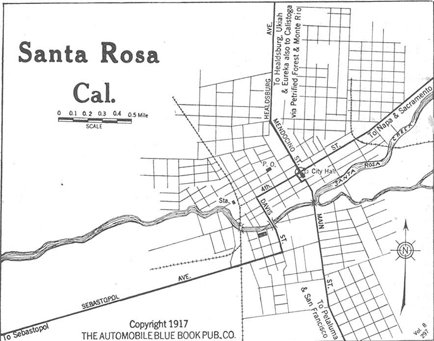 1917 street map | History of Sonoma County | Santa rosa ... on vacaville ca street map, downey ca street map, foster city ca street map, boulder creek ca street map, westminster ca street map, atwater ca street map, orange ca street map, la mesa ca street map, novato ca street map, san rafael ca street map, millbrae ca street map, balboa island ca street map, burney ca street map, delano ca street map, truckee ca street map, santee ca street map, compton ca street map, dunsmuir ca street map, milpitas ca street map, larkfield ca street map,