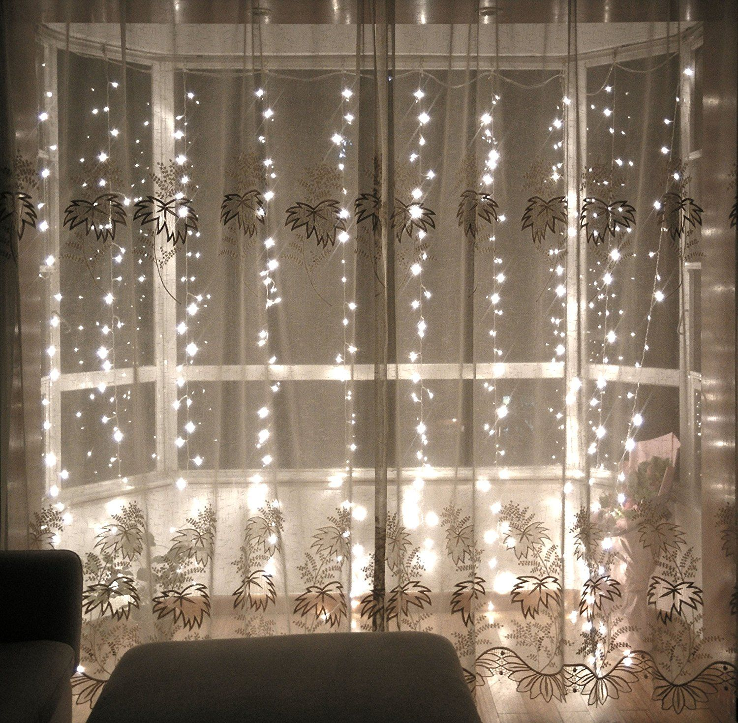 Lebefe 9 84ft X 9 84ft 300 Led Icicle Curtain Lights Christmas