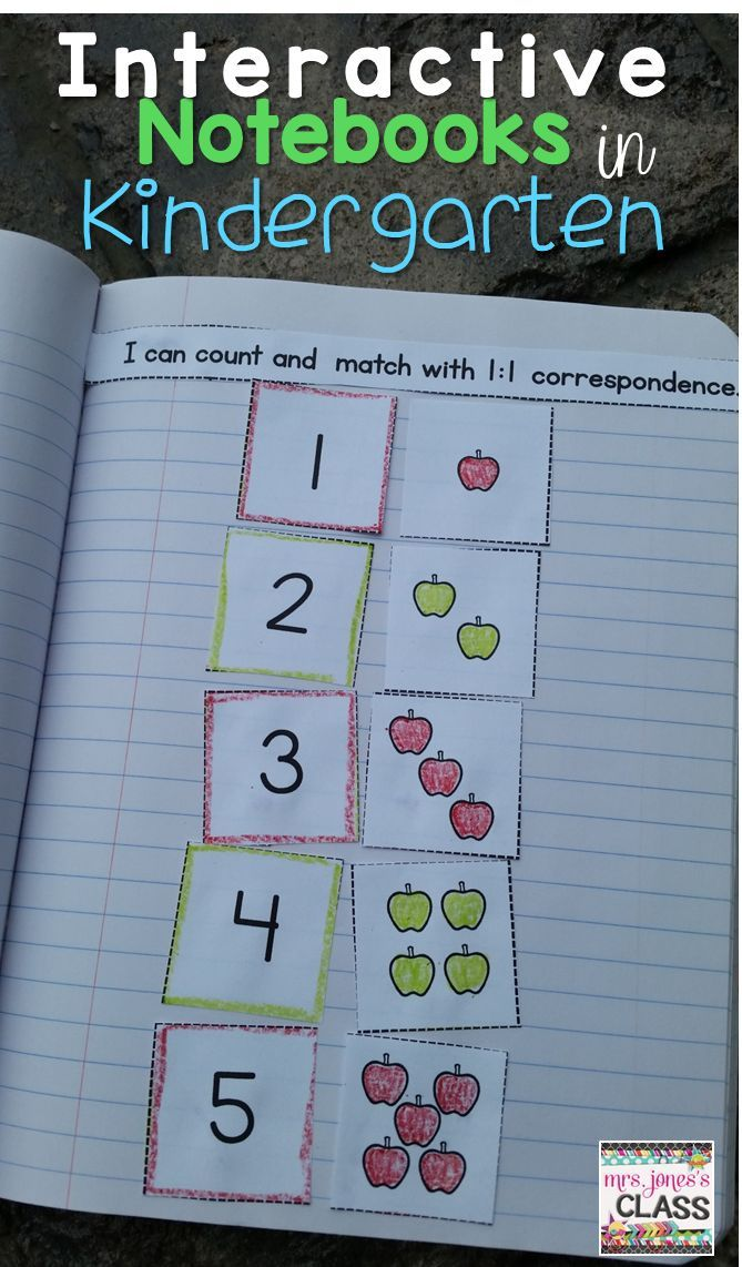 Interactive Math Notebook for Kindergarten BUNDLE: Daily entries ...
