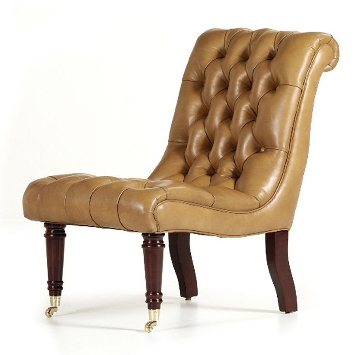 Beau Leather Slipper Chairs For The Den