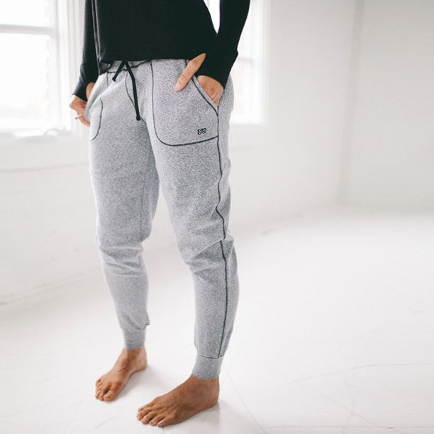 "Sweating is entirely optional when strutting your stuff in our re-vamped ""sweats."" Cozy and cuddly at home but equally fierce and sassy when paired with a jet b"