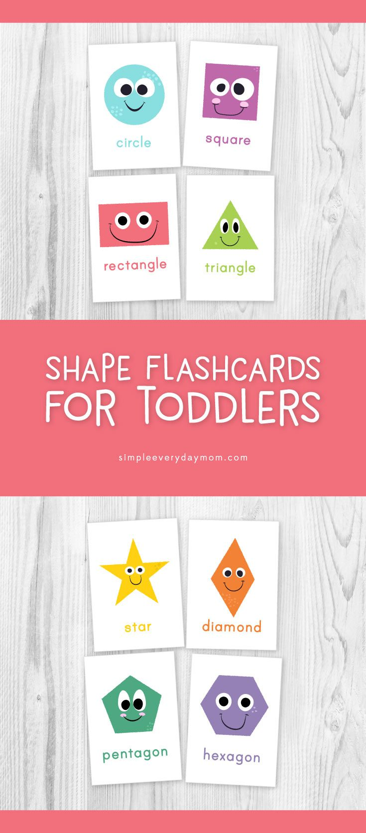 Shape Flashcards For Kids | Teach your toddler shapes with these ...
