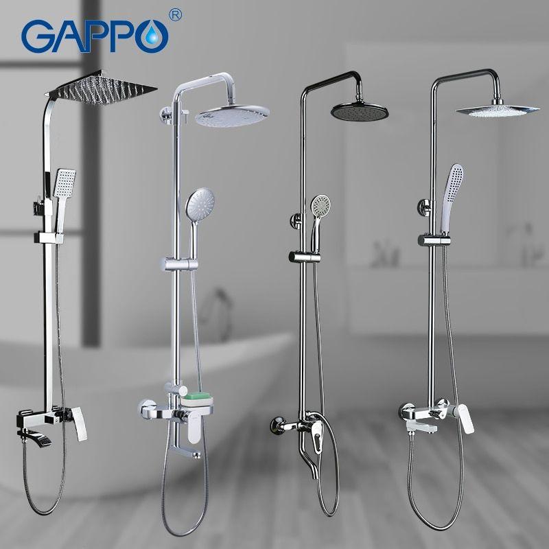 Gappo Shower System Bathroom Shower Faucet Tap Bath Mixer Bathtub