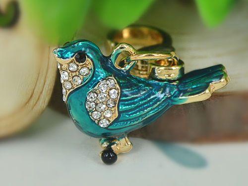 XS013-Birds-Car-Small-Keyring-Rhinestone-Crystal-Charm-Pendant-Fob-Key-Chain-Bag
