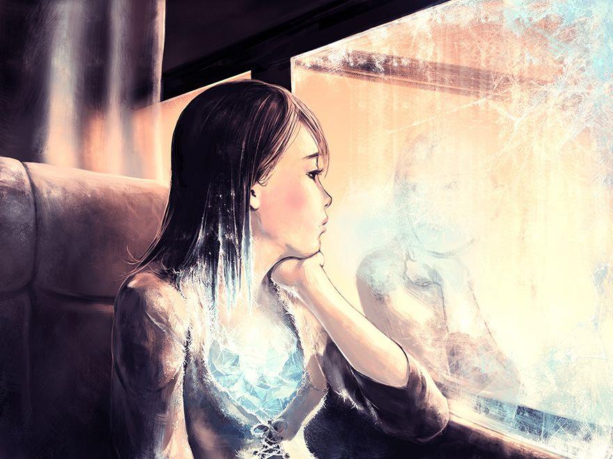 40張會讓你感受到人性的複雜跟生活黑暗的「暗示性」畫作!