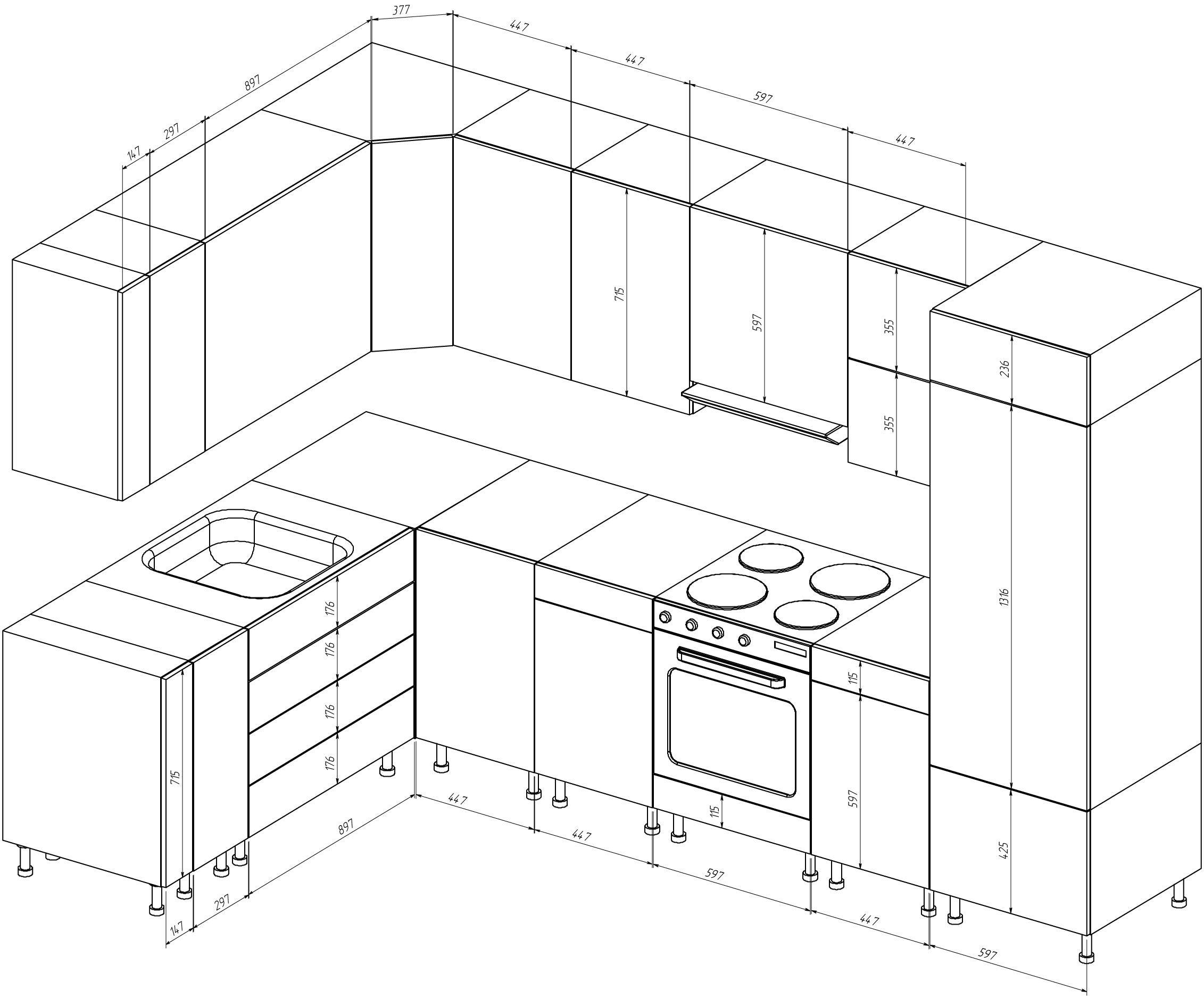 Pin di Николай su Кухня | Pinterest | Cucine, Disegno e Cucina