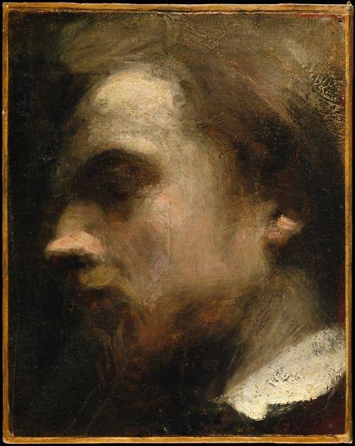 Henri Fantin-Latour (1836-1904), Self-Portrait, c. 1858.