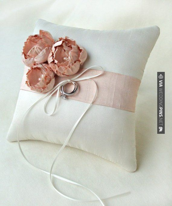 So good - Silk Ring Pillow by Emici Bridal | CHECK OUT MORE GREAT PINK WEDDING IDEAS AT WEDDINGPINS.NET | #weddings #wedding #pink #pinkwedding #thecolorpink #events #forweddings #ilovepink #purple #fire #bright #hot #love #romance #valentines #pinky