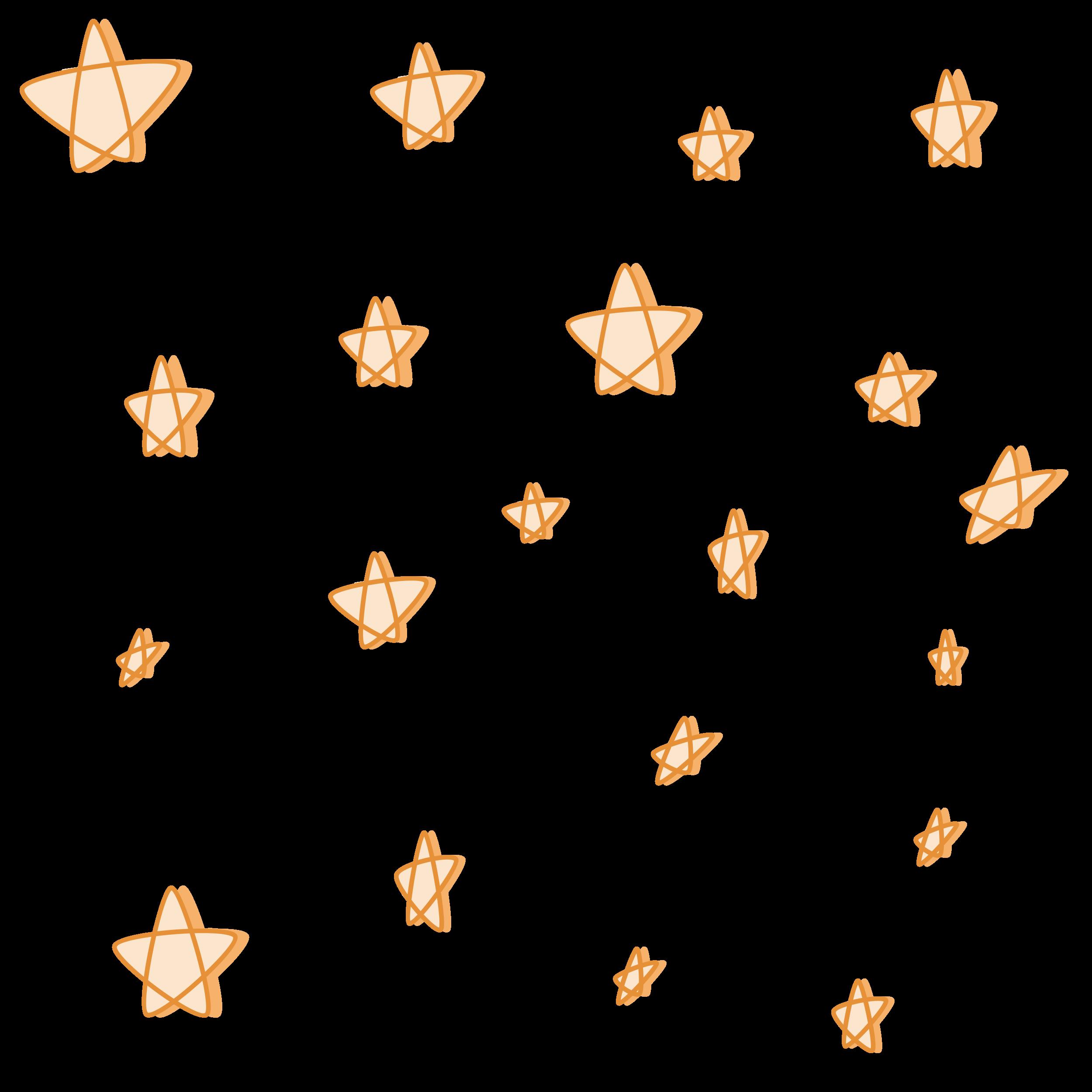 Orange Pastel Stars With Shadow Sticker By Arexus Aesthetic Stickers Orange Aesthetic Pastel