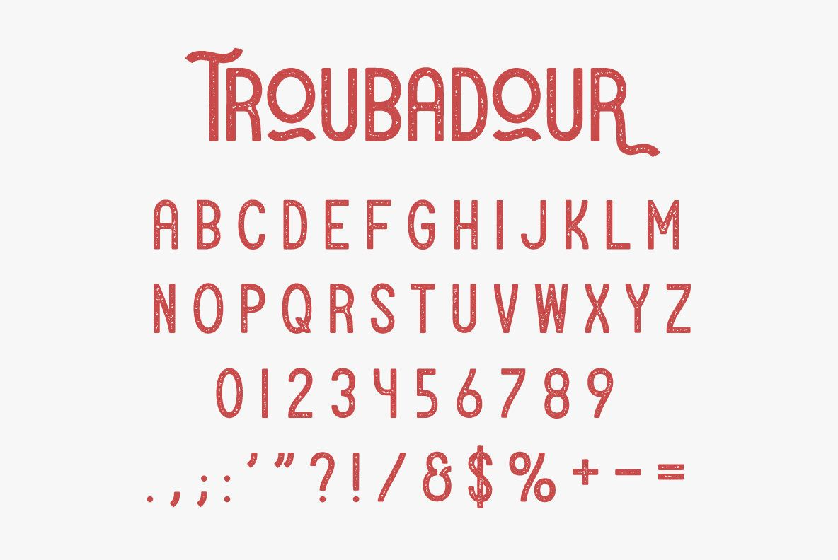 Troubadour  Letter    Sans Serif Serif And Fonts