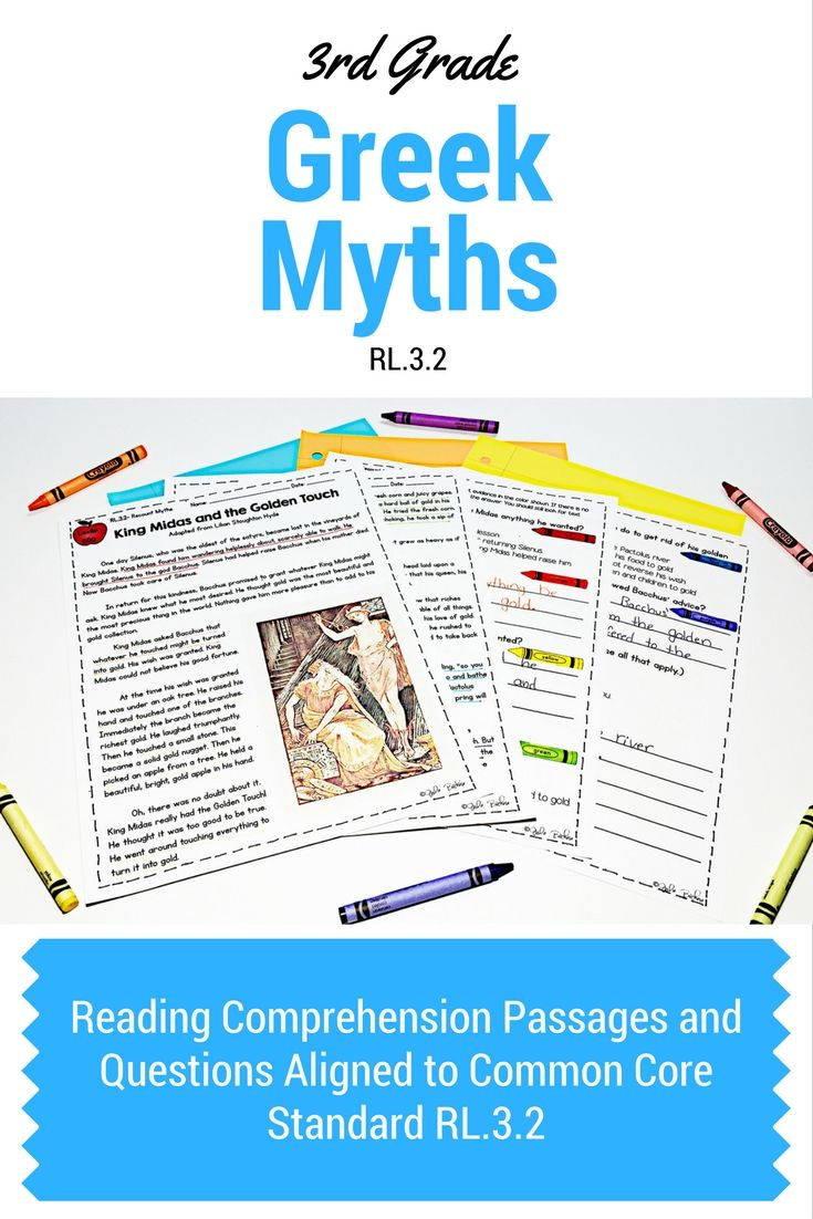 3rd Grade Greek Mythology Reading Comprehension Passages And Questions Aligned Reading Comprehension Passages Teaching Reading Comprehension 3rd Grade Reading Reading passages third grade common core