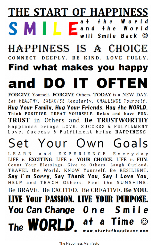 Happines Manifesto The Start Of What Make You Happy Friendship Essay Happiness