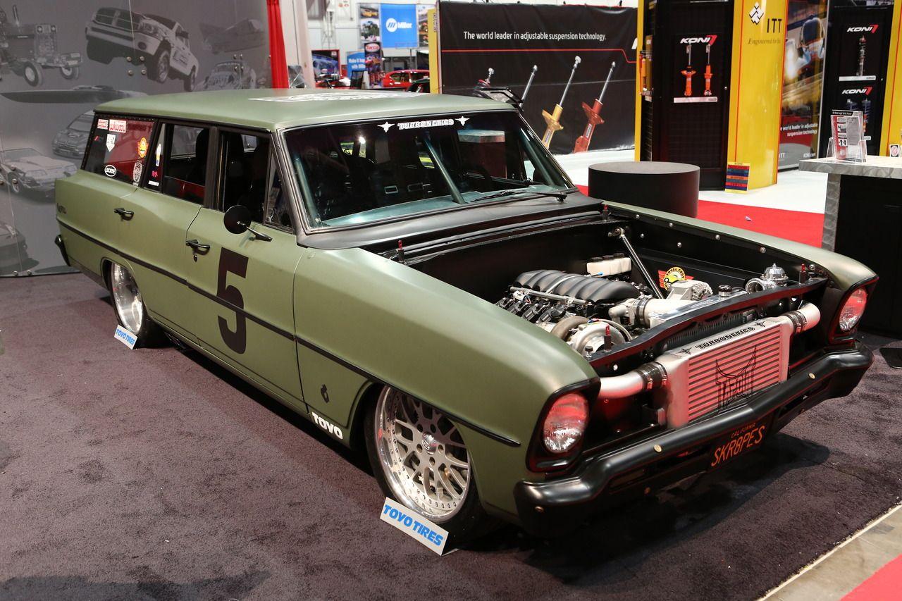 1965 chevy ii nova ss favorite cars american muscle pinterest - Skrape S Chevy Ii Nova Wagon Competed In The 2013 Ousci