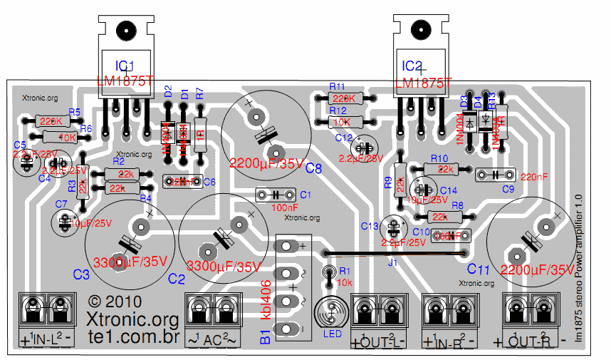 D Rudiant: Amplifier Layout
