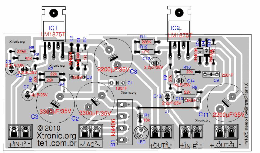 layout pcb tda 2050 btl gambar ilmu pengetahuan subwoofer schematic