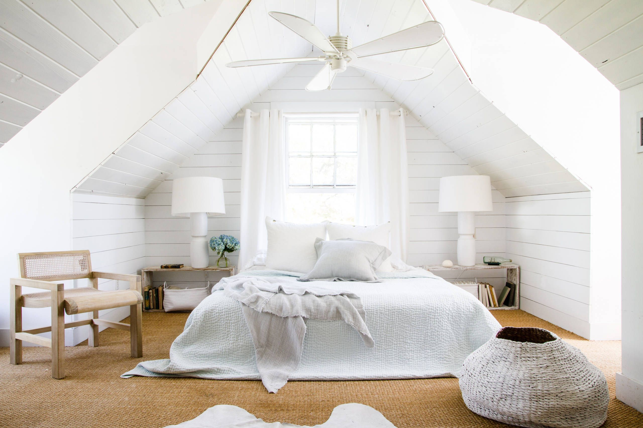 5 Reasons To Put Shiplap Walls In Every Room Attic Bedroom Designs White Bedroom Design Attic Bedroom Small