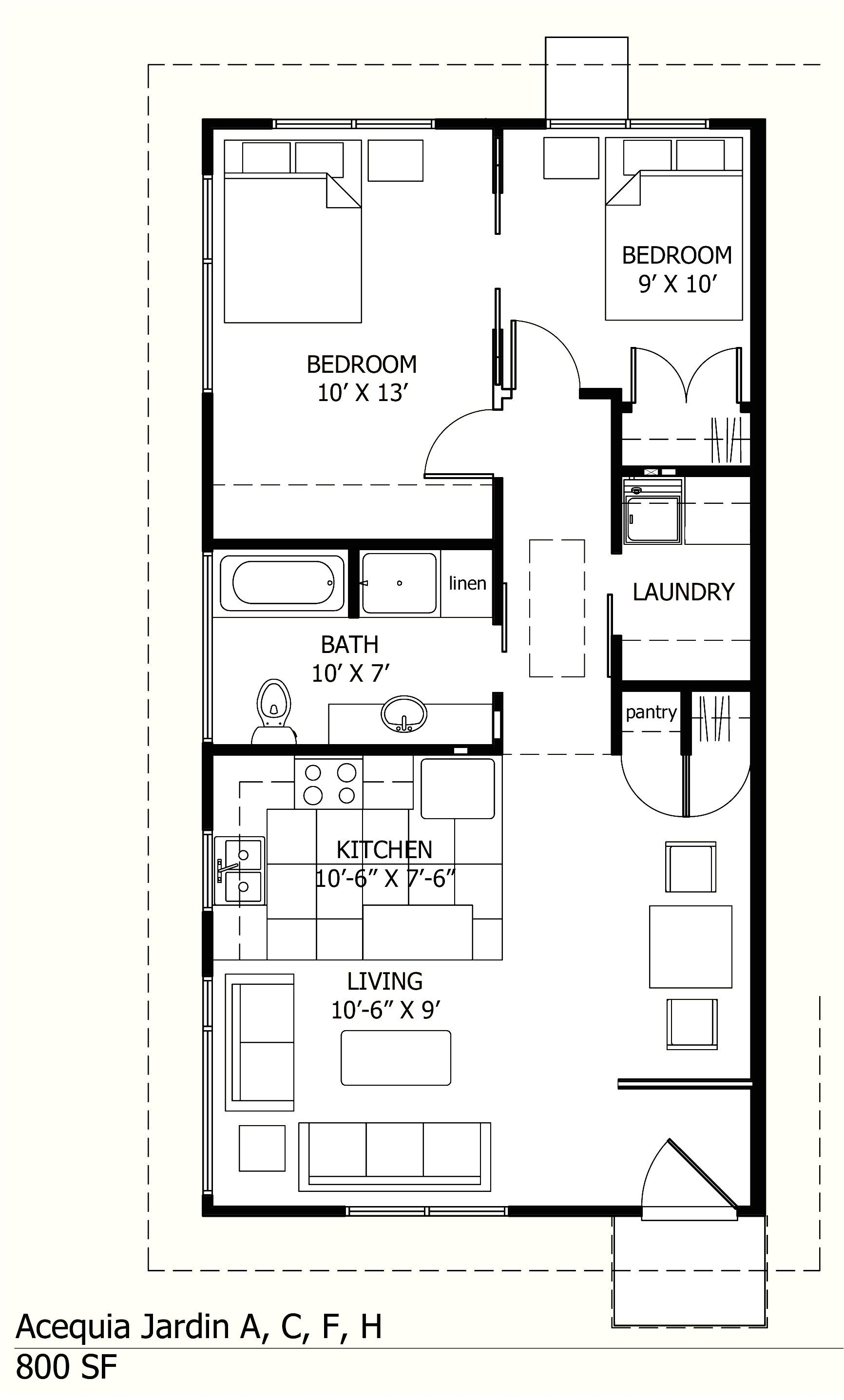 One Bedroom House Plans 1000 Square Feet Small House Layout House Floor Plans Cottage House Plans