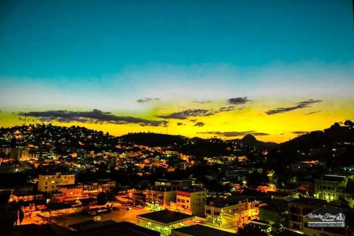 Minha cidade Barra de São Francisco//ES ao Entardecer