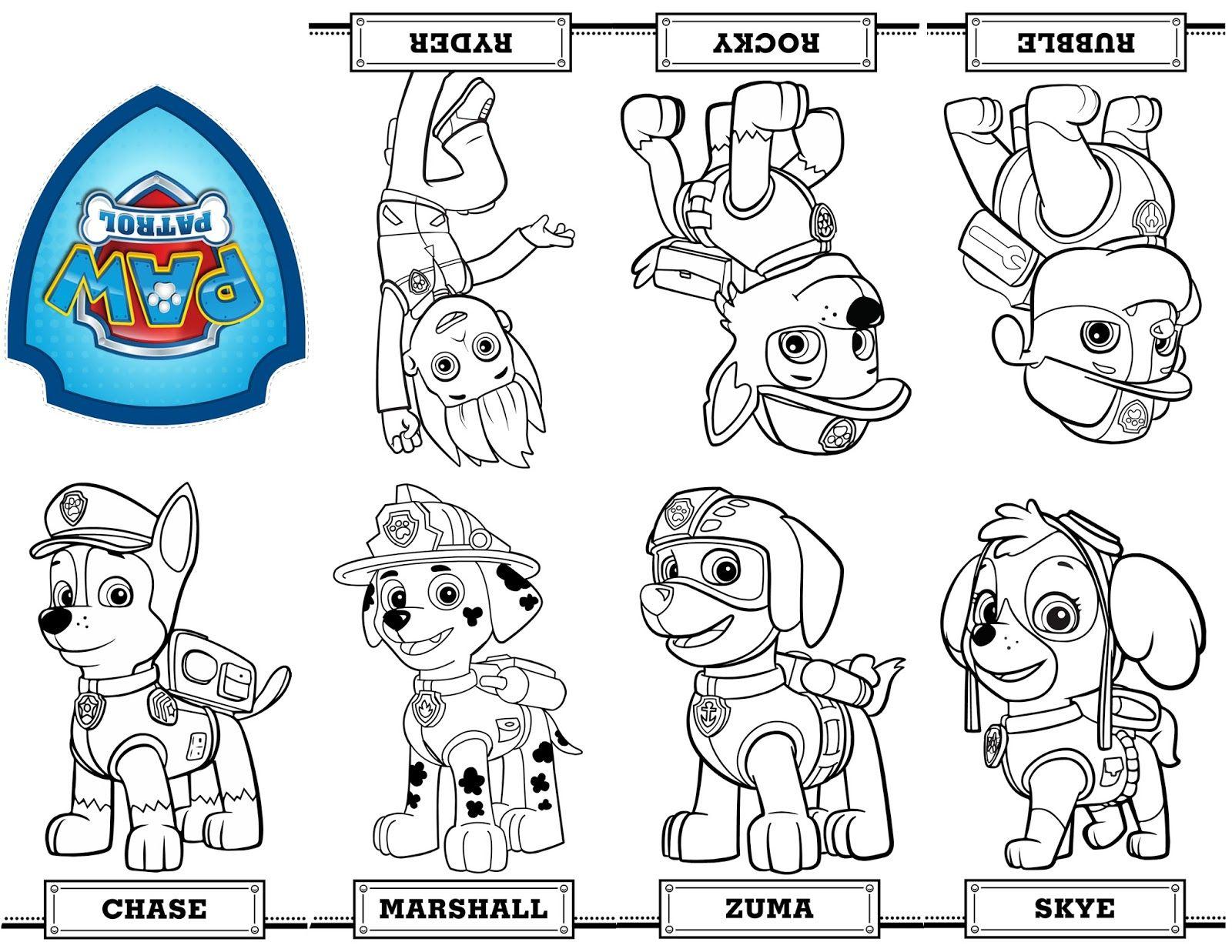 Desenhos Da Patrulha Canina Para Colorir Pintar Imprimir Paw