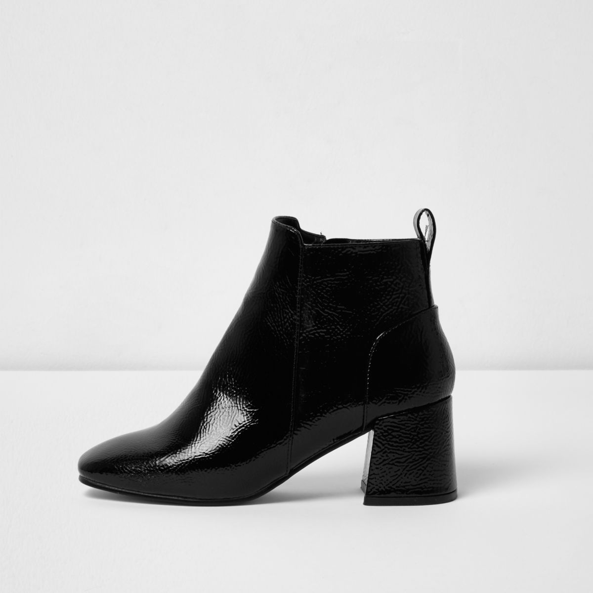 Womens Black square toe block heel boots River Island Cheap Sale Release Dates Buy Cheap With Paypal Discount Shop For Authentic Online Outlet 100% Guaranteed RlZnTT3x