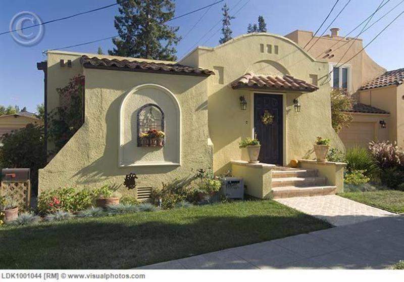 One Story Spanish Style Home Pics | Spanish House Exterior, Spanish House  Exterior, , House Exterior .