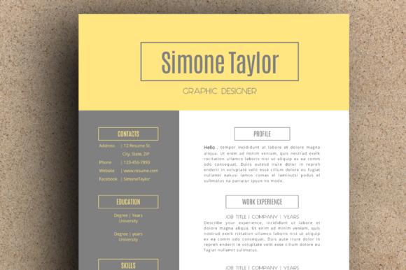 The Simone Resume Pack by LeResume on Creative Market