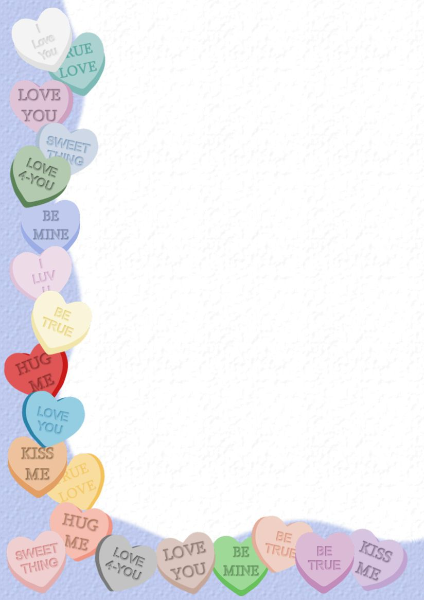 Free Stationery Com Valentines Day A4 Template Downloads Holiday Stationery Free Printable Stationery Valentines Printables Free
