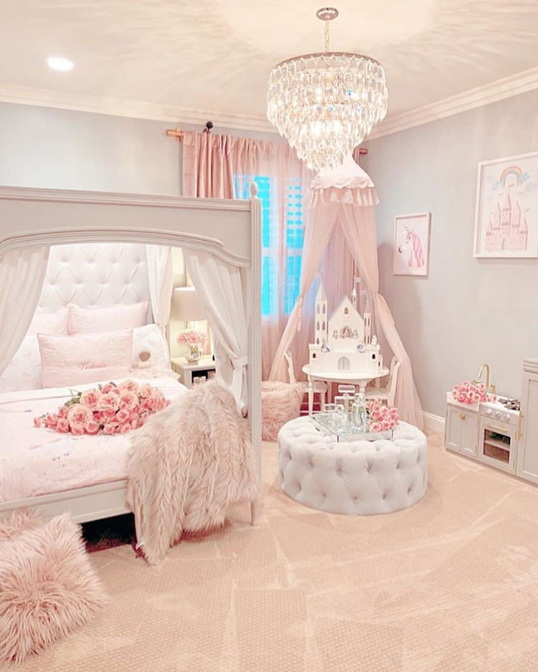 Lynda Correa On Instagram Wow Absolutely Stunning Dreamy Princess Room By Rh Interior Designs Lux Pink Bedroom For Girls Girl Room Girl Bedroom Decor