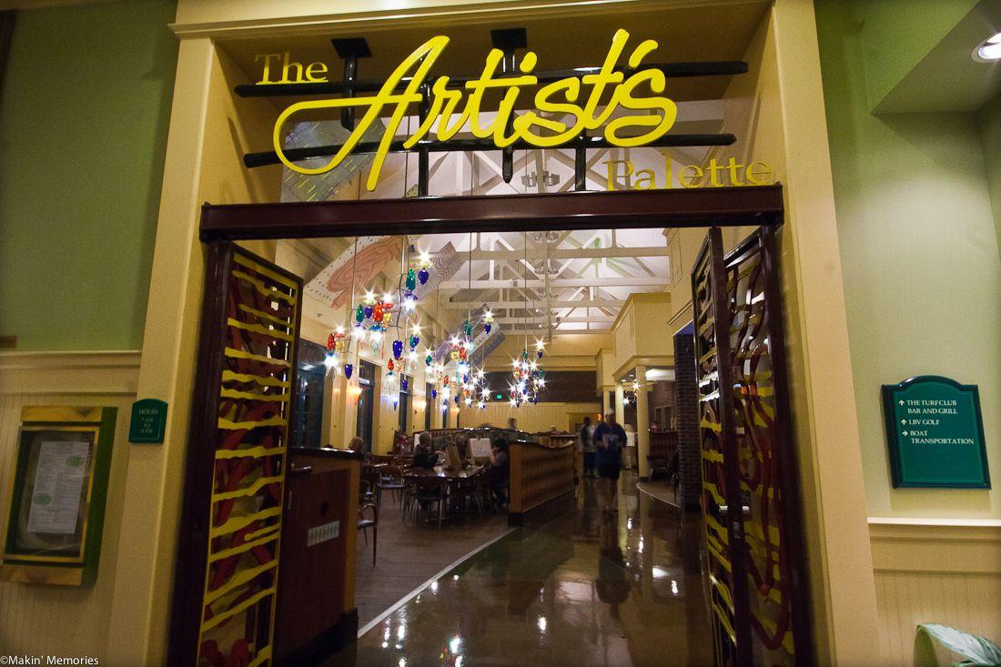 Disney's Artists Palette a snack bar inside the main
