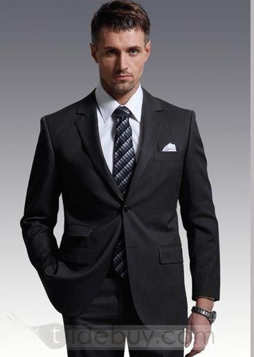 Limited Collection Two On Pinstripe Suit For Wedding Piece Set Tide