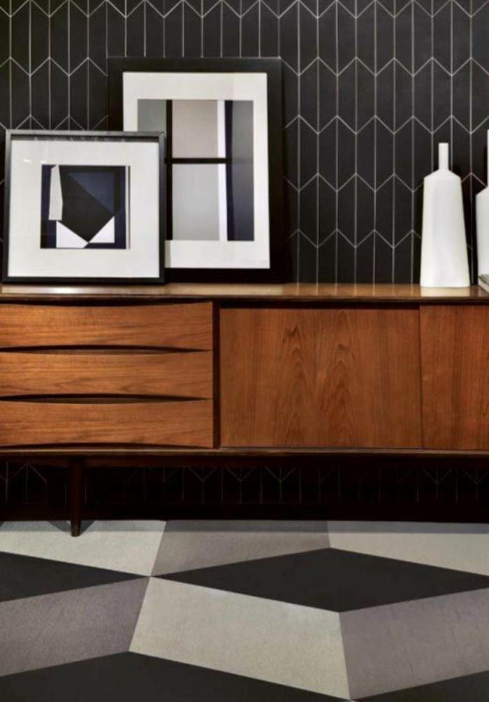 interieur-blanc-et-noir-pour-le-couloir-moderne-papier-peint-noir ...
