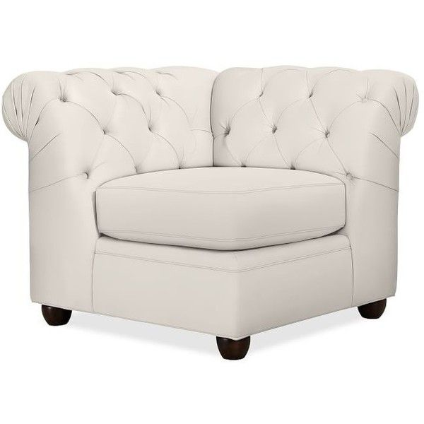 Pottery Barn Chesterfield Upholstered Corner ($1,399) ❤ liked on ...