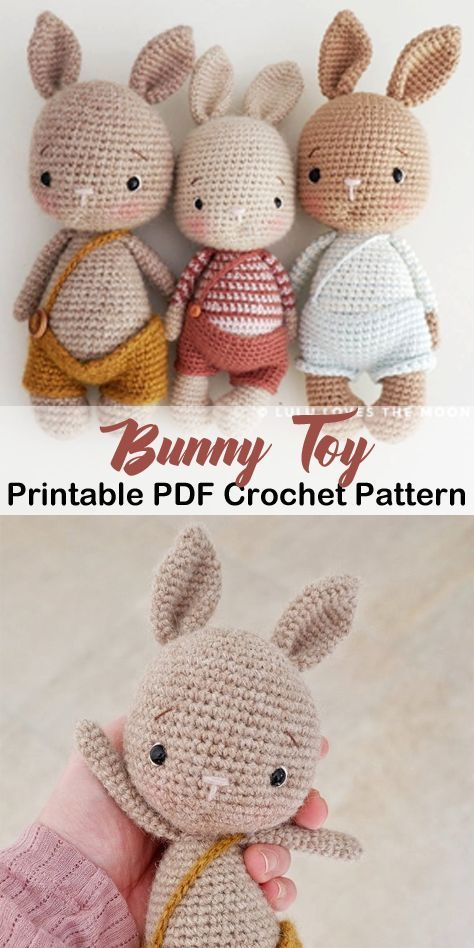 Make a Cute Bunny - Easter Present #knittingprojects