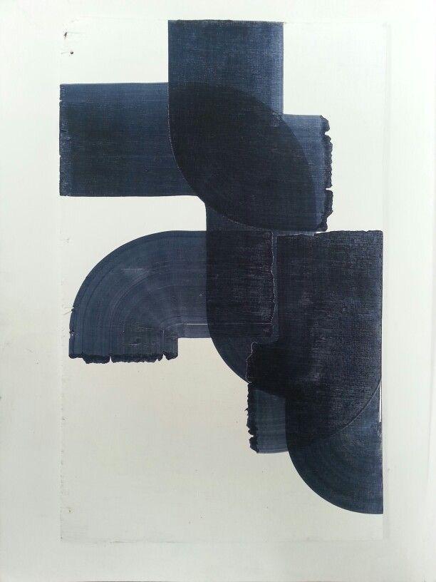 abstract / painted / indigo